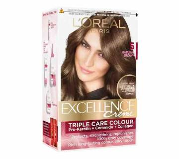Loreal Excell.5 Natural Brown 72ml+100g-(5% VAT Included on Price)-3015236