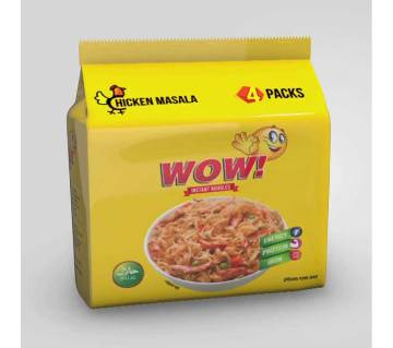 Wow ! Chicken Masala Inst.Noodles 496g-(5% VAT Included on Price)-2813592