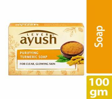 Lever Ayush Purifying Turmeric Soap 100g-(5% VAT Included on Price)-3014923