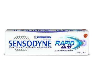Sensodyne Rapid Relief Tooth Paste 80g-(5% VAT Included on Price)-3014471