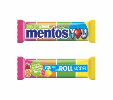 Mentos Rainbow Chewy Drages 21.6g-(5% VAT Included on Price)-2808794