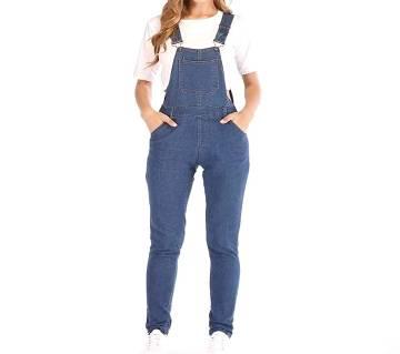 Womens Denim Bib Pants  Long Rompers Bib Pants Jumpsuits