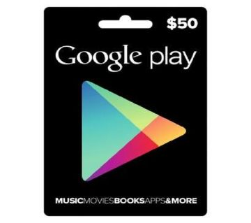 Google Play Store 50 Dollar Gift Card Redeem Code