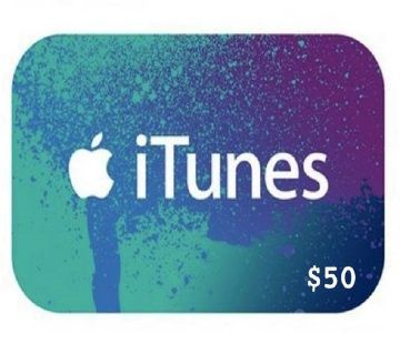 iTunes 50 Dollar Gift Code Redeem US Store