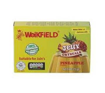 P&G WEIKFIELD VEG JELLY CRYSTAL PINEAPPLE 75GM --INDIA