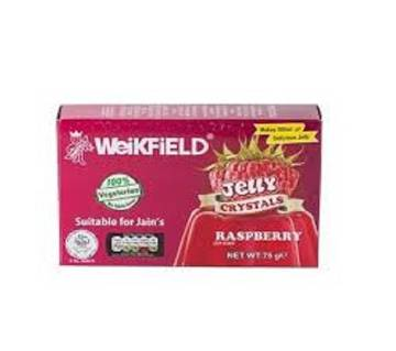 Weikfield VEG JELLY CRYSTAL RASPBERRY 75GM-INDIA