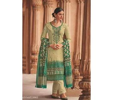 HOUSE OF LAWN (MANNAT-1) Unstitched Lawn Three piece