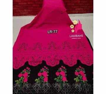 Unstitched Laser Cut Cotton Two-piece - LR77