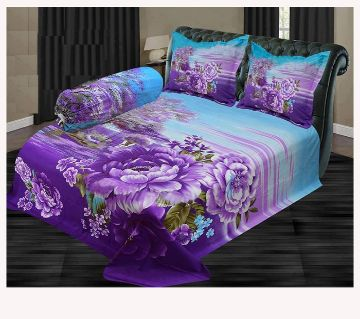 Cotton King Size Bed Sheet With 2 Pillow covers