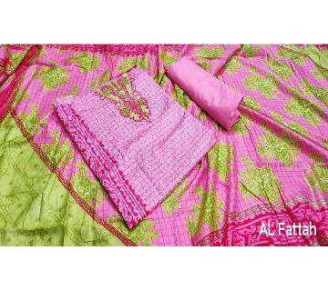 Latest Designed Unstitched Salwar Kameez for Women (Three Pieces)