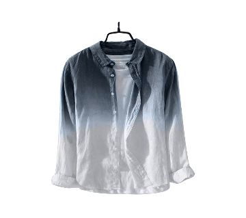 Waazir Lifestyle Pure cotton deep duying Shirt For Men-black white