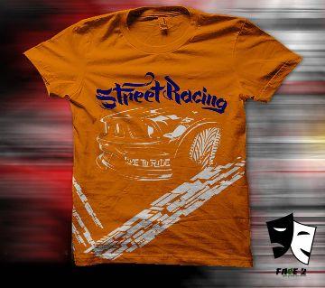 Half Sleeve Cotton T-Shirt For Man-orange