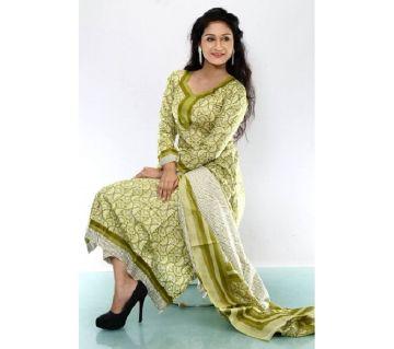 Unstitched Joypuri Cotton Lawn Salwar Kameez for Women
