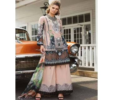 Unstitched Cotton With Embroidery Salwar Kmeez for women
