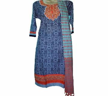 03Cotton Stitched Boutique Salwar Kameez For Women - Multicolor