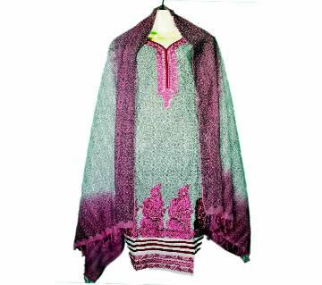 08Cotton Stitched Boutique Salwar Kameez For Women - Multicolor