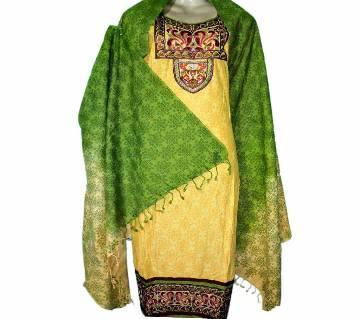 10Cotton Stitched Boutique Salwar Kameez For Women - Multicolor
