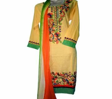 13Cotton Stitched Boutique Salwar Kameez For Women - Multicolor
