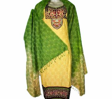 14-Cotton Stitched Boutique Salwar Kameez For Women - Multicolor
