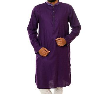 SaRa Lifestyle Mens Cotton Panjabi (TMP488) Violet