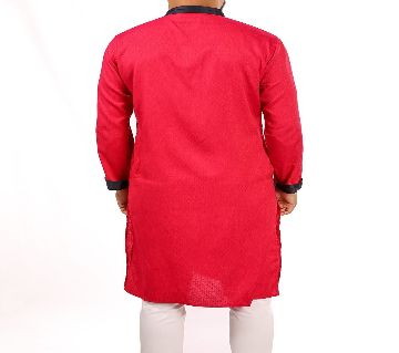 RED PANJABI WITH CONTRAST DETAILS BY ECSTASY Bangladesh - 11393913