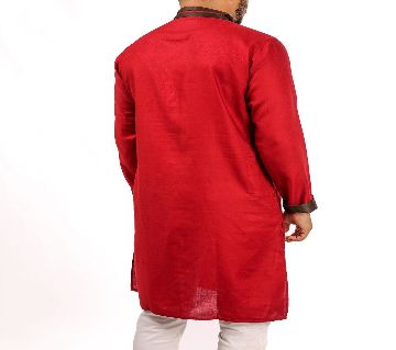 RED PANJABI WITH CONTRAST COLLARED BY ECSTASY Bangladesh - 11393923