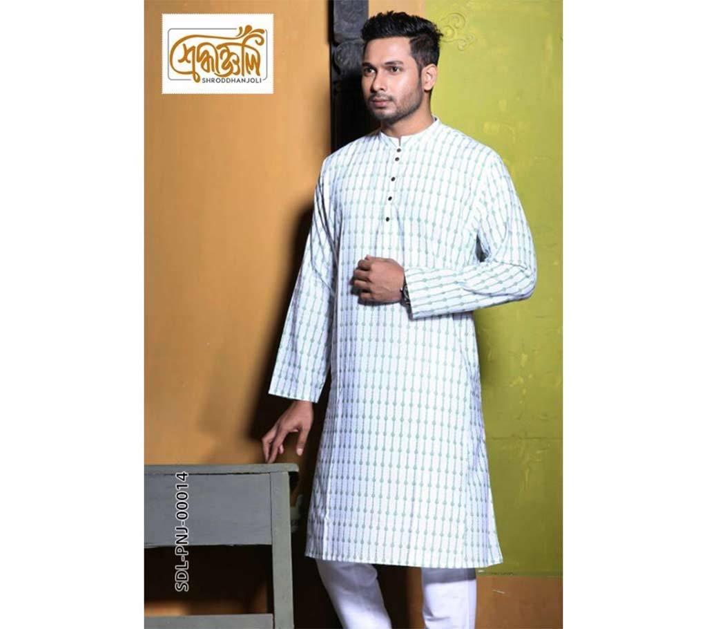 শ্রদ্ধাঞ্জলি পাঞ্জাবী - SDL-PNJ-00014W (রঙ বাংলাদেশ) by Rang Bangladesh বাংলাদেশ - 1156787