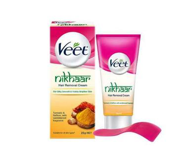 Veet Nikhaar Herbal Hair Removal Cream with Turmeric, Sandal & Saffron 25gm by Reckitt Benckiser Bangladesh - 11402201