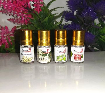 1,Rajnigandha 2,Beli Ful 3,Apple 4,Cherry (Attar)-3ml-BD