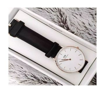 02 DW Black Leather Watch For Man -Copy