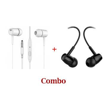 Earphones 2 Pieces Combo Offer
