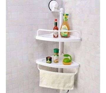 2 Layer Corner Shelf ABS Plastic