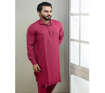 Chines Linen Kabuli for men-Red