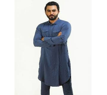 Chines Linen Kabuli for men-Ash