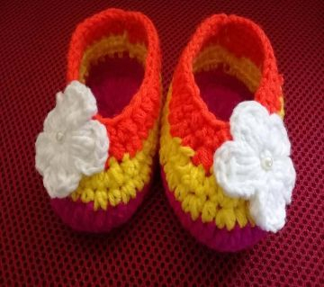 Baby Shoes Crochet Casual Baby Handmade Knitted Baby Shoes Lightweight and Soft Comfortable Shoes.