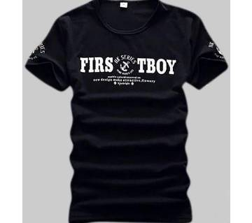 First Boy Short Sleeve Printed T-Shirt For Men