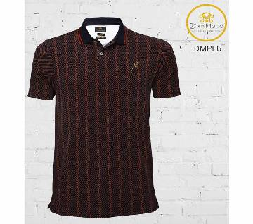Viscose Polo Shirt (Brown)