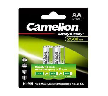 Camelion 2500mAh Rechargeable Battery AA 2pcs 1.2V