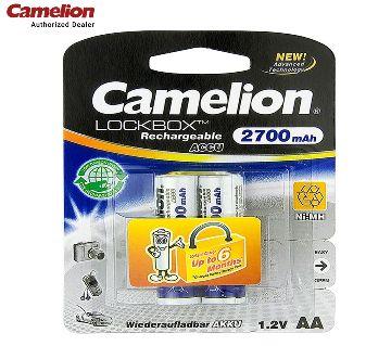 Camelion 2700mAh Rechargeable Battery 2pcs AA