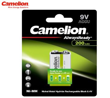 Camelion 9V Rechargeable 200mAh Battery