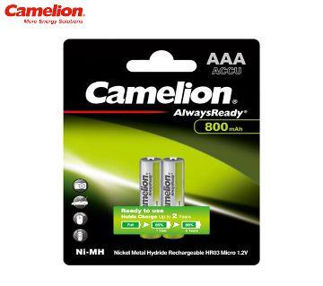 Camelion 800mAh Rechargeable AAA Battery 1.2V -2pcs