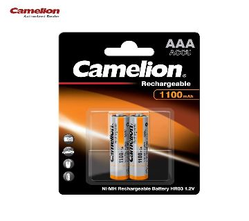 Camelion 1100mAh AAA Rechargeable 1.2v Battery -2pcs