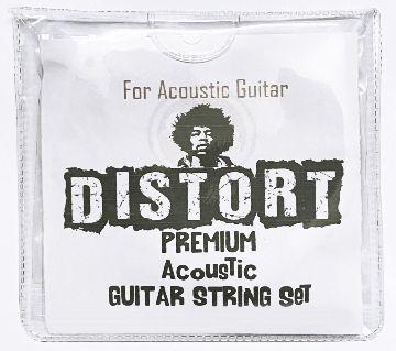 Distort Acoustic Guitar Strings 1 Set 6 Strings