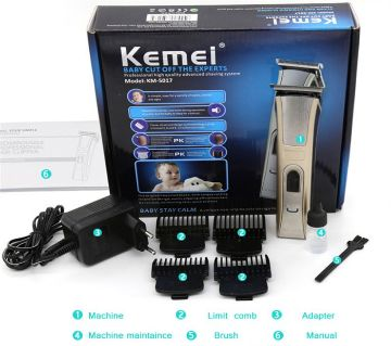 Market Bangl KM-3909 Cordless Hairclipper Electric Men Head Hair Clipper