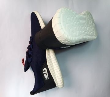 Men Casual Shoes Sneakers Blue Color With White Sole