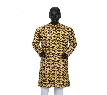 Mens Semi long Cotton Panjabi-7
