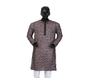 Mens Semi long Cotton Panjabi-8