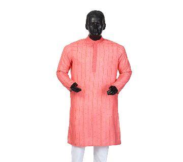 Mens Semi long Cotton Panjabi-9