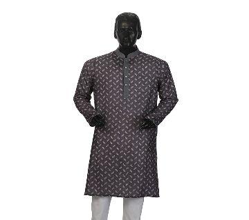 Mens Semi long Cotton Panjabi-11