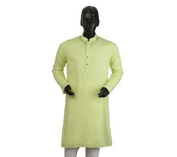 Mens Long Cotton Panjabi - 24 (Light Green)